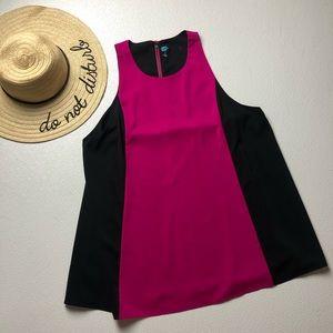 Alice and Olivia mini tunic dress pink and black